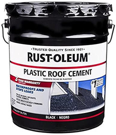 Roof Cement, 4.75 Gal., Black, 65 Sq. Ft.