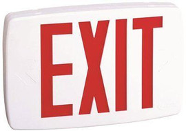 Lithonia Lighting Plastic White Led Emergency Exit Sign With Battery