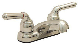 Proplus 4 In. Centerset 2-handle Bathroom Faucet With Pop-up Assembly In Chrome