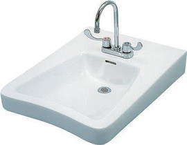 Gerber Eaton Wall-mount Bathroom Sink In White With Overflow Drain