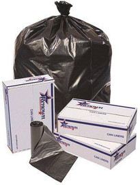 Renown 60 Gal. 38 In. X 58 In. Black 1.2 Mil 20-liners Per Roll Trash Can Liners (5-rolls Per Case)