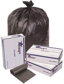 Renown 60 Gal. 38 In. X 60 In. Black 22 Mic 25-liners Per Roll, Trash Can Liners (6-rolls Per Case)