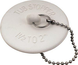 Rubber Bathtub Stopper With 15 In. Metal Chain, Pack Of 5