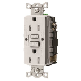 Hubbell Wiring 15 Amp 125-volt Nema 5-15r Hubbell Autoguard Commercial Standard Tamper-resistant Gfci Receptacle, White