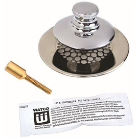 Watco Manufacturing Watco Universal Nufit Tub Closure Push/pull With Grid Strainer With Brass Pin, Silicone