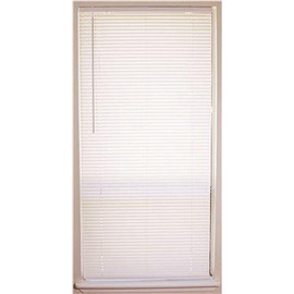 Designer's Touch Cut-to-size White Cordless Light Filtering Fade Resistant Vinyl Blinds With 1 In. Slats 25 In. W X 72 In. L