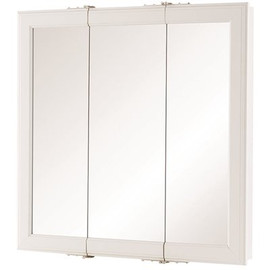 Home Decorators Collection 24 In. W X 24 In. H Fog Free Framed Surface-mount Tri-view Bathroom Medicine Cabinet In White