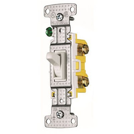 Hubbell Wiring 15 Amp 120-volt Single-pole Toggle Switch, White