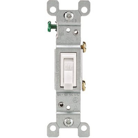 Leviton 1-pole Residential Grade Ac Quiet Toggle Switch, White, 120 Volts, 15 Amps