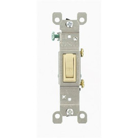 Leviton 15 Amp Single-pole Toggle Switch, Ivory- Quickwired And Side Wired, Ea