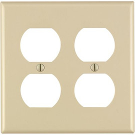 Duplex Receptacle 2 Gang Double Plate Ivory