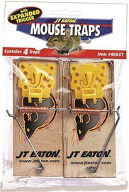 Jt Eaton Little Bigfoot Mouse Size Snap Traps With Expanded Trigger (2-packs)