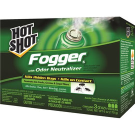 Hot Shot No-mess Insect Fogger With Odor Neutralizer, Three 2 Oz. Cans Per Pack