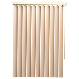 Vertical Blind Vinyl 102' X 84' Valance And Wand Control White