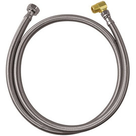 Durapro Dishwasher Connector, 1/2' Fip X 3/8' Compression X 48', Stainless Steel