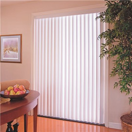 Designer's Touch 3.5-inch PVC Vertical Blinds, White, 72' X 48'
