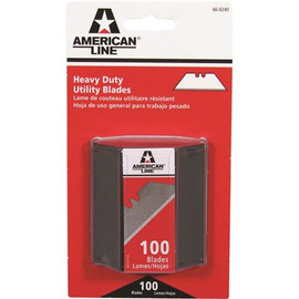 American Safety Razor Two Notch Utility Blades, With Safety Dispenser, 100 Blades Per Pack