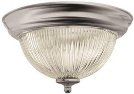 Monument Halophane Dome Ceiling Fixture, Brushed Nickel, 11-3/8 In., Uses (1) 60-watt Incandescent Medium Base Lamps*