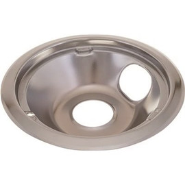 Electric Range Drip Pan Fits GE And Hotpoint Ranges, Chrome, 6 In., Pack Of 6