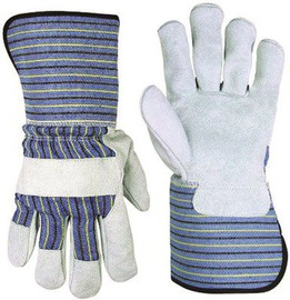 Clc Split Leather Palm Work Gloves With Extended 4.5 In. Safety Cuff, Large
