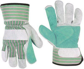 Double Leather Palm Safety Cuff Work Gloves One-size - Pair