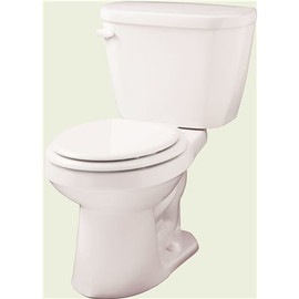 Gerber Plumbing Viper 2-piece 1.28 Gpf Single Flush Round Front Toilet In White Seat Included