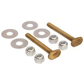 ProPlus 5/16 in. x 2-1/4 in. Brass Snap-Off Toilet Flange Bolts