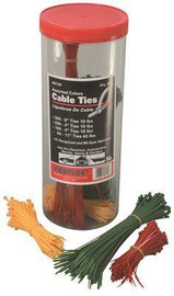 Assorted Cable Ties By Color And Size 18/40