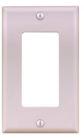 Decora Switch 1 Gang Plate White