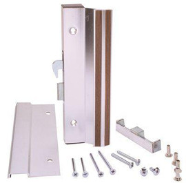 Anvil Mark 4-15/16 In. Mounting Holes In Aluminum Anodized Finish, Sliding Door Handle For Patio Doors Includes Outside Pull