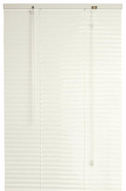 Designer's Touch 1-inch Premium Metal And Vinyl Mini Blinds, White, 72x64 In.