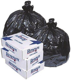 Renown Liner33 Gal .90 Mil Black 33' X 39' 25/roll 10/cs - By The Case Only