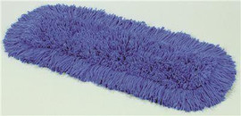 Renown Premium Dust Mop Launderable Twisted Loop-end Blend, Slip-on Backing, Blue, 36 In. X 5 In.