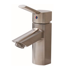 Premier Waterfront Single Hole Single Handle Bathroom Faucet with Pop-Up Assembly in Brushed Nickel