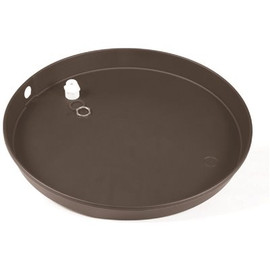 Camco 20 in. ID Plastic Water Heater Drain Pan w/ PVC Fitting
