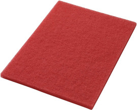 """Americo Manufacturing 40441420 Red Buffing Floor Pad Rectangle (5 Pack), 14"""" X 20"""""""