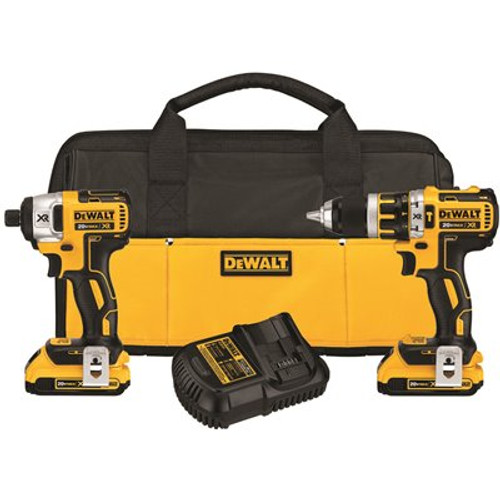 Dewalt 20 Volt Max Xr Lithium Ion Brushless Compact Hammerdrill & Impact Driver