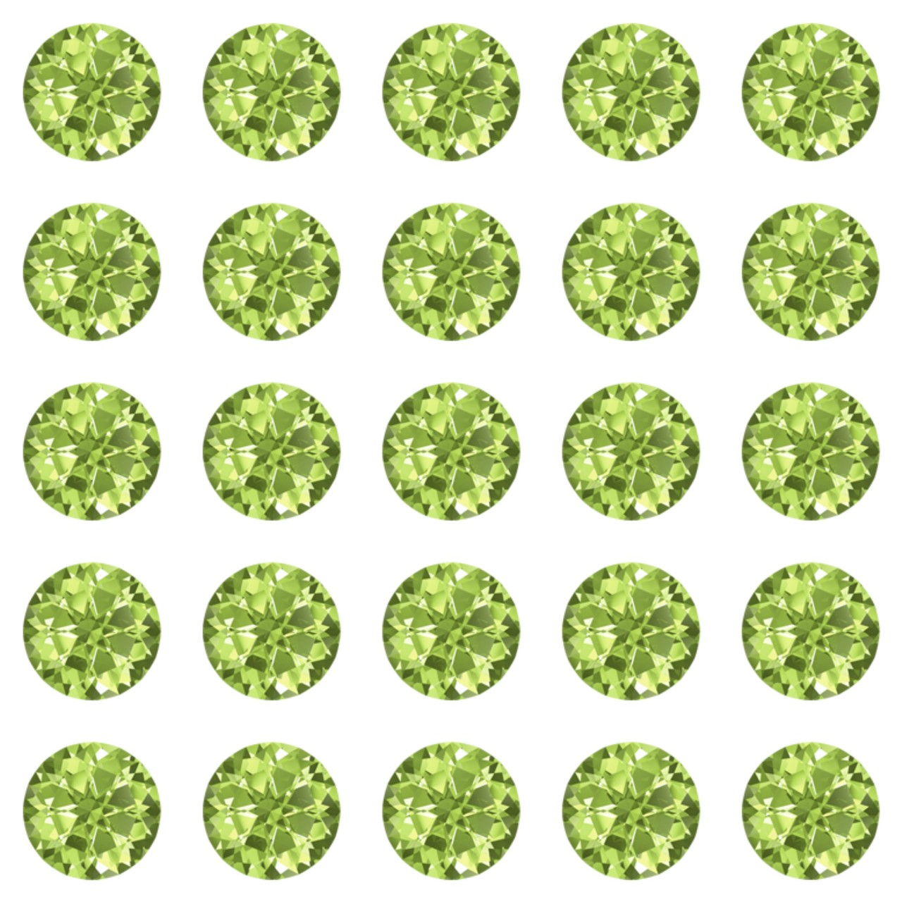 Peridot 30ss Swarovski Diamonds
