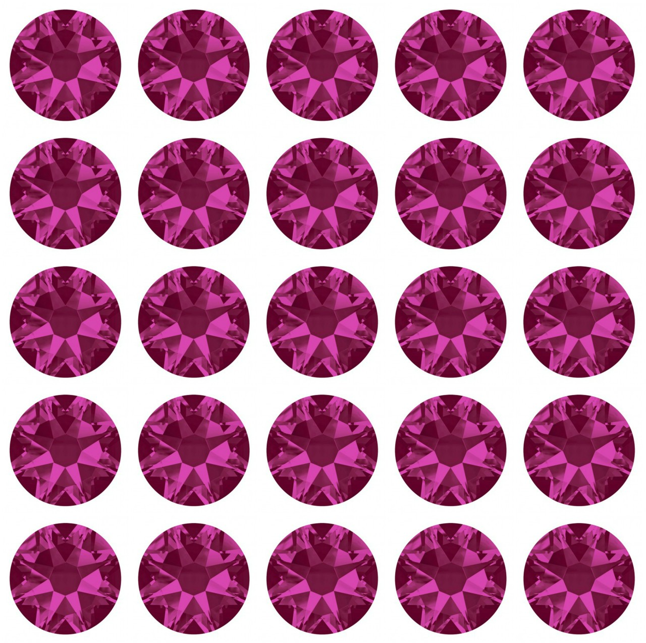 Fuschia 30ss Swarovski Diamonds