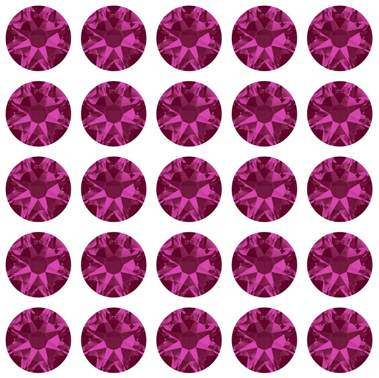 Fuschia 30ss Swarovski Diamonds