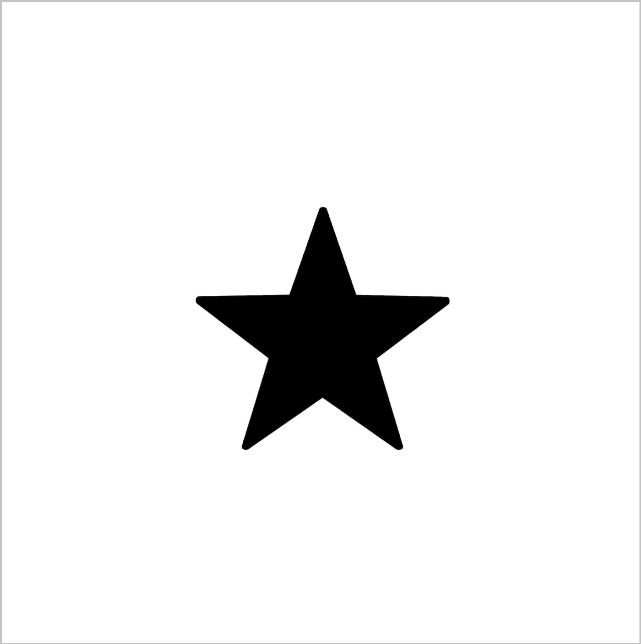 Punk Star Professional Stencil Insert (Small)