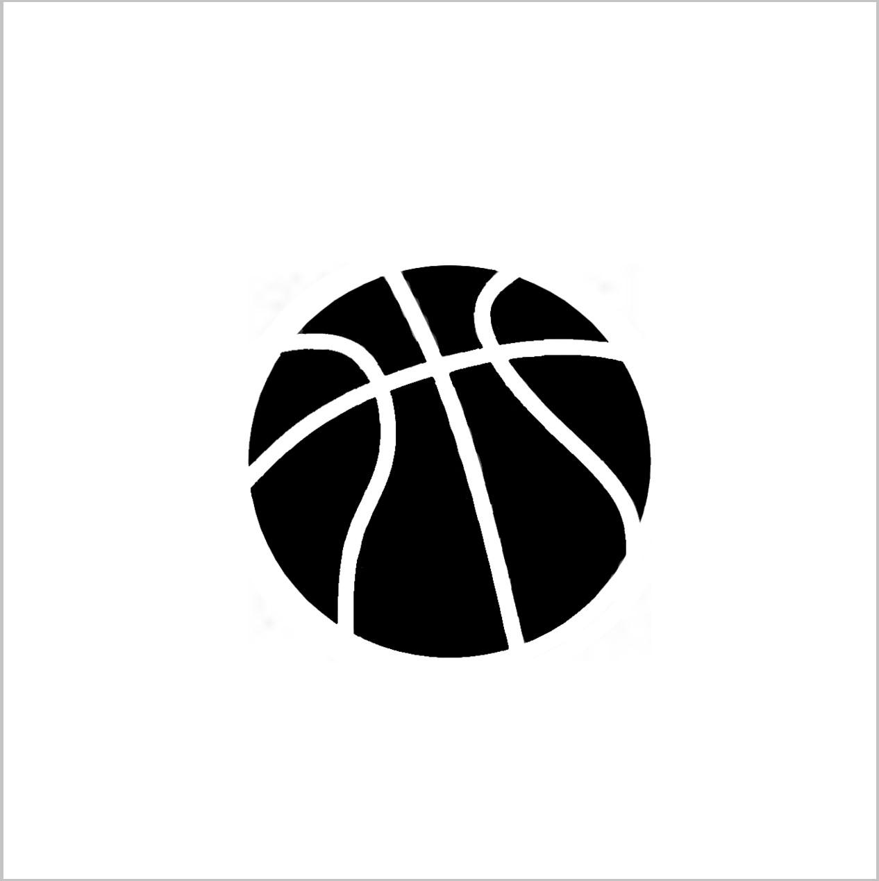 Basket Ball Professional Stencil Insert (Small)
