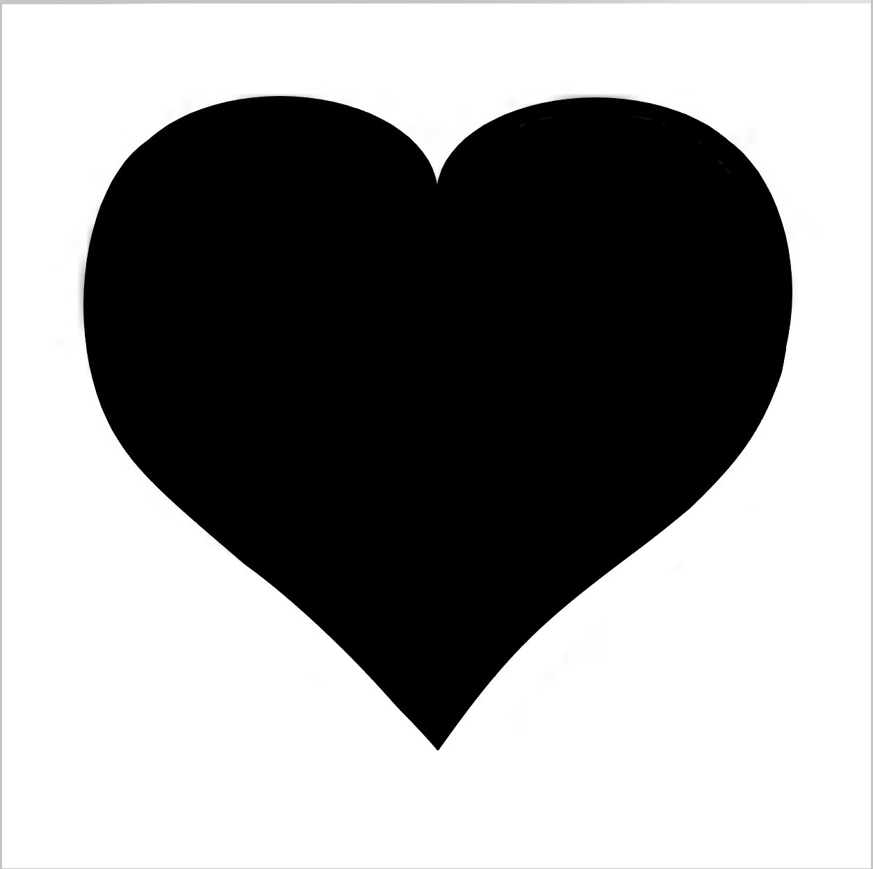 Heart Professional Stencil Insert