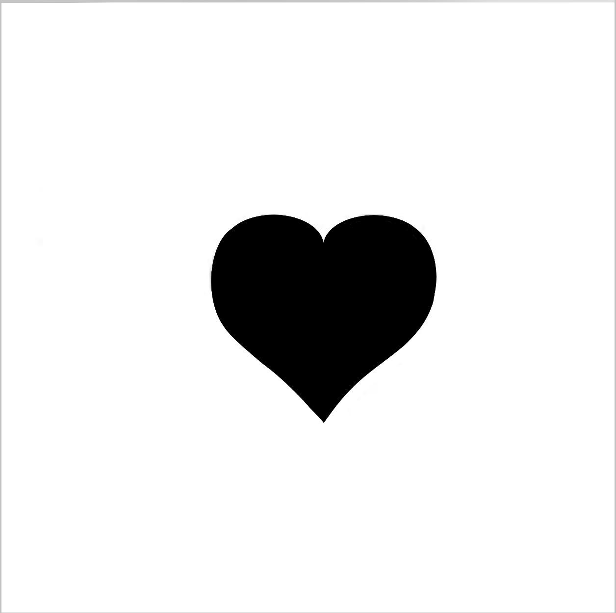 Heart Professional Stencil Insert(Small)