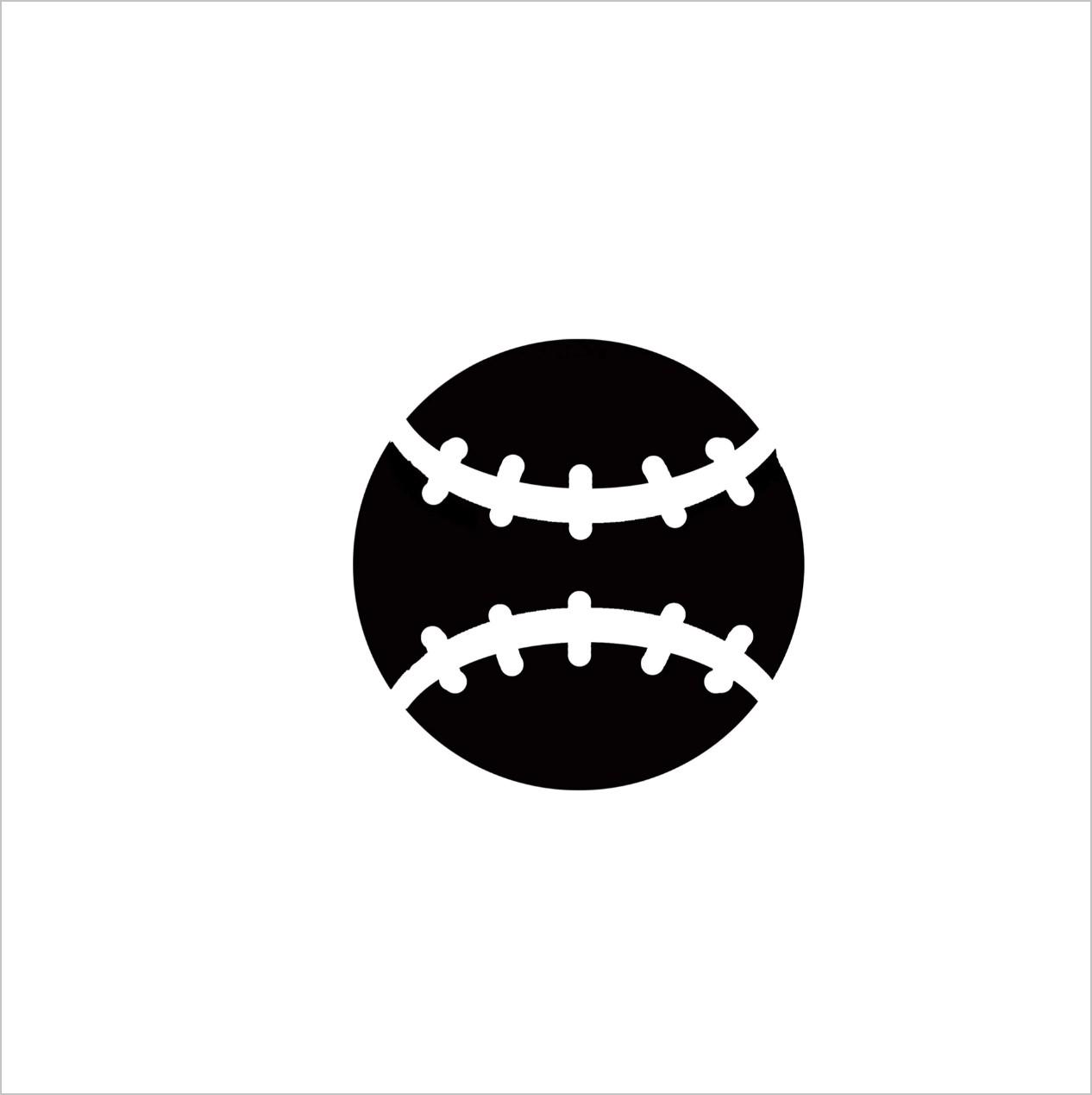 Baseball Professional Stencil Insert (small)