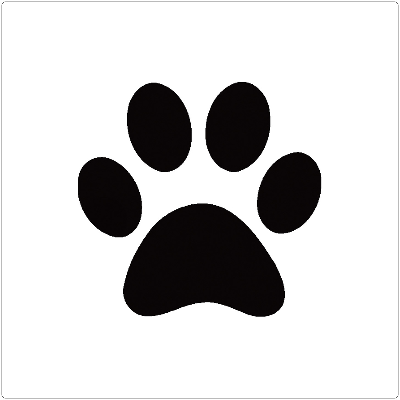 This is an image of Influential Dog Paw Print Stencil Printable Free