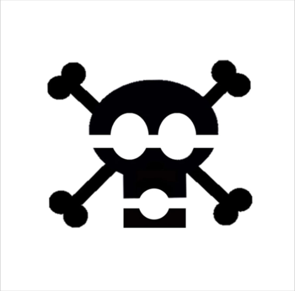 Skull and Bones Professional Stencil Insert