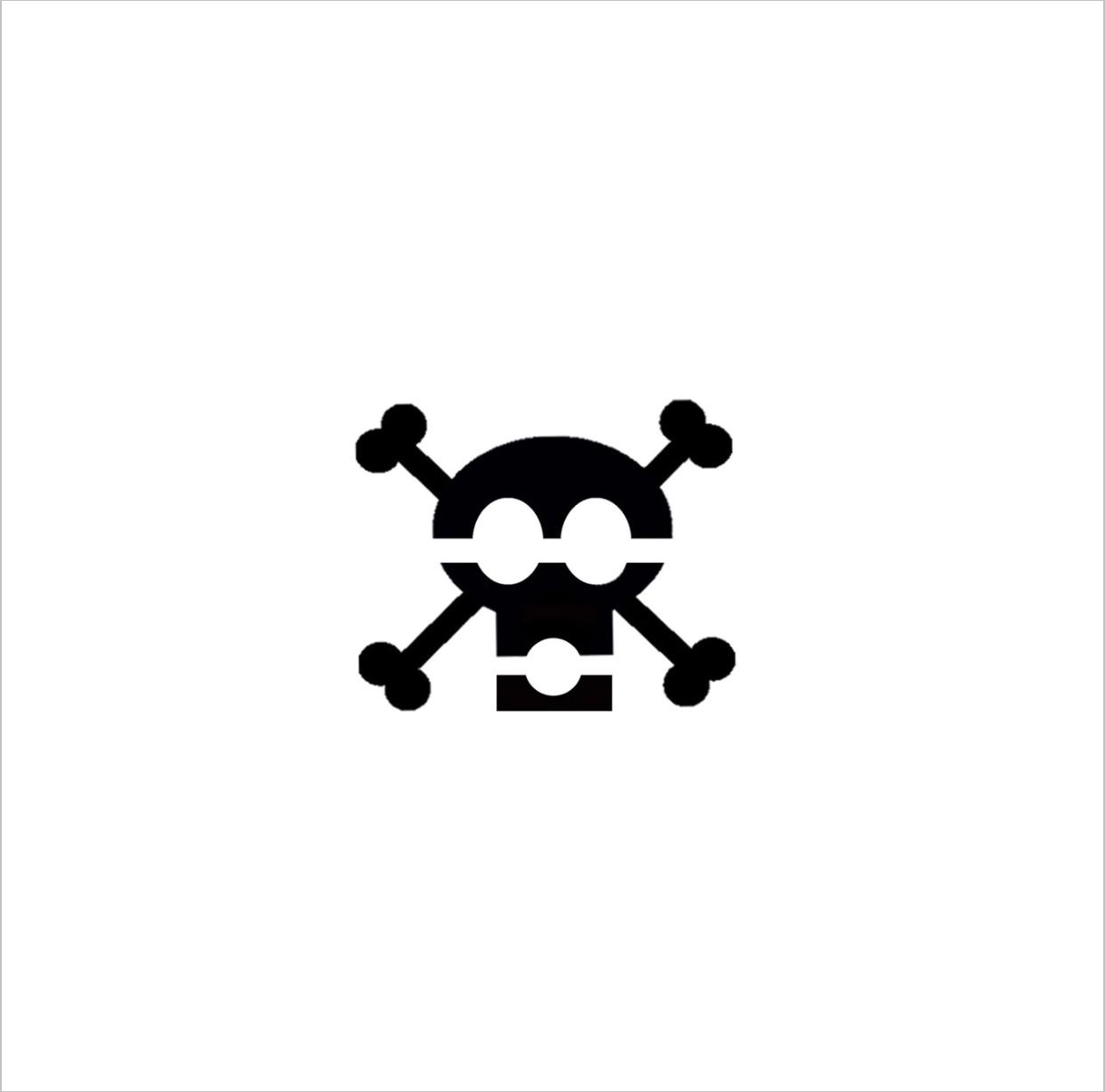 Skull and Bones Professional Stencil Insert (small)