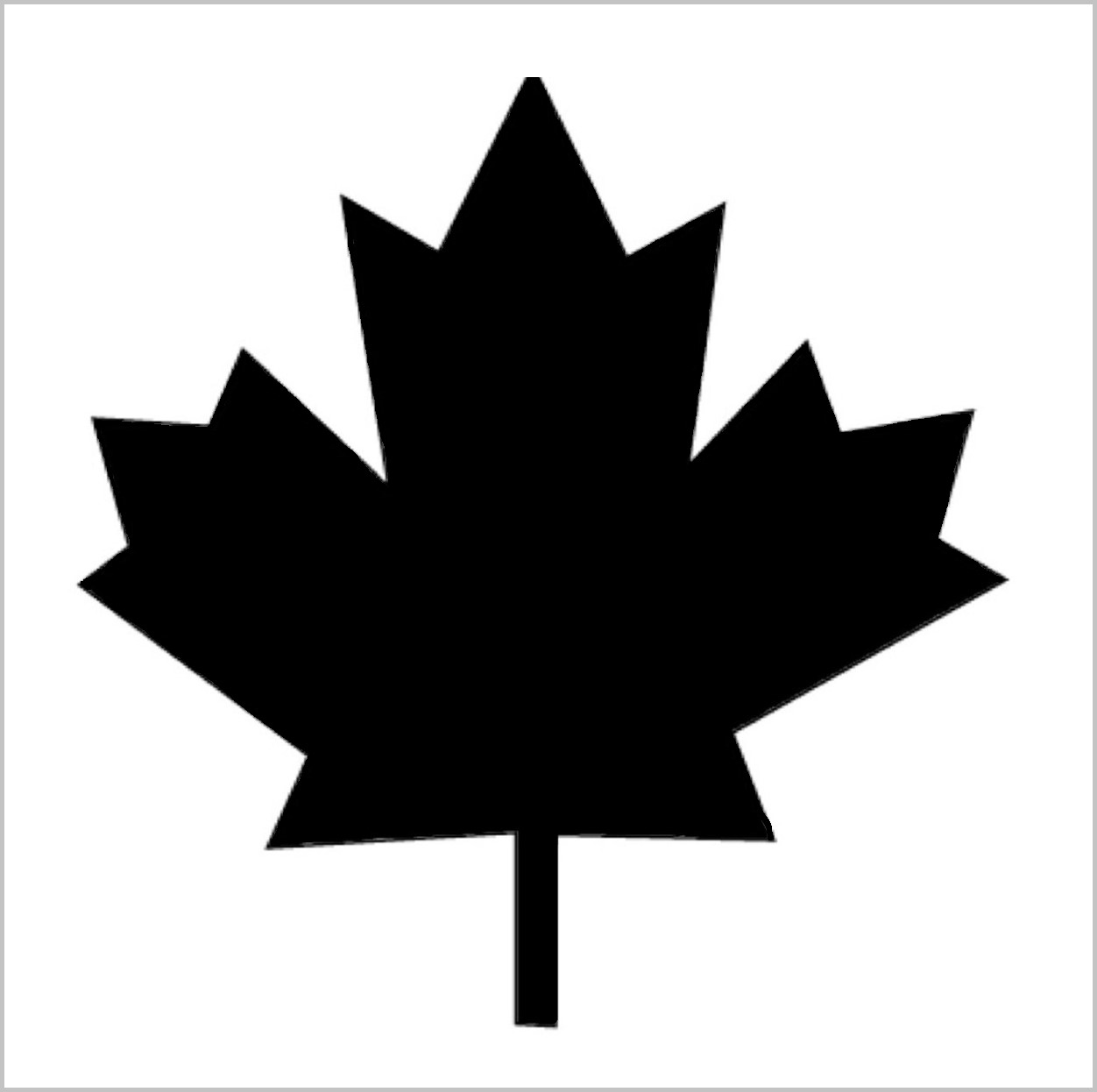 Maple Leaf Professional Stencil Insert