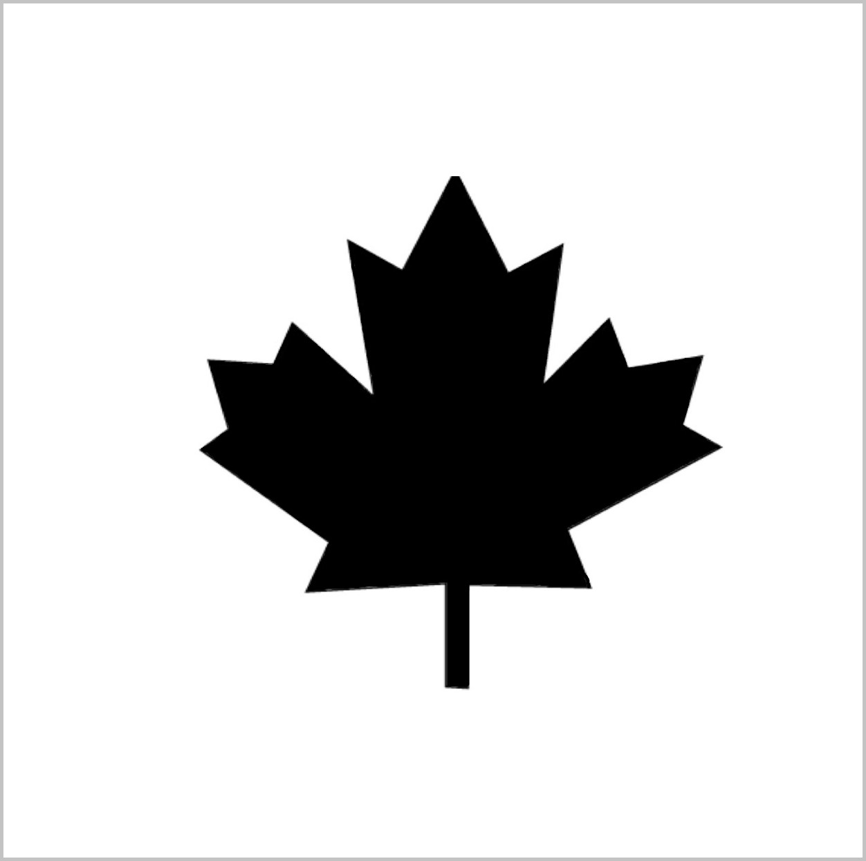 Maple Leaf Professional Stencil Insert (small)